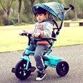 Crianças triciclos carrinhos de bebê carrinho de criança dobrável crianças pedais de bicicletas carrinho