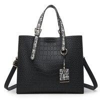 Luxury Handbags Women Bags Designer PU Leather Bags Handbags Women Famous Brands Alligator Women Handbag Big