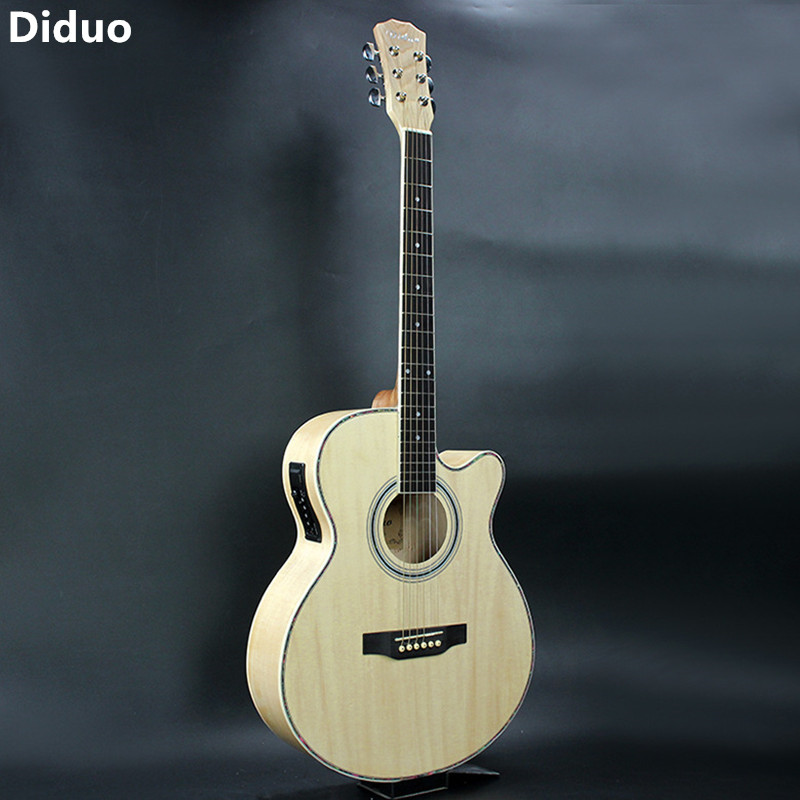 Diduo 40 Inch Folk Guitar Acoustic Guitar with EQ Guitarra Rosewood Fingerboard Guitarra With Guitar Strings Musical Instruments joyo eq 307 folk guitarra 5 band eq acoutsic guitar equalizer high sensibility presence adjustable with phase effect and tuner