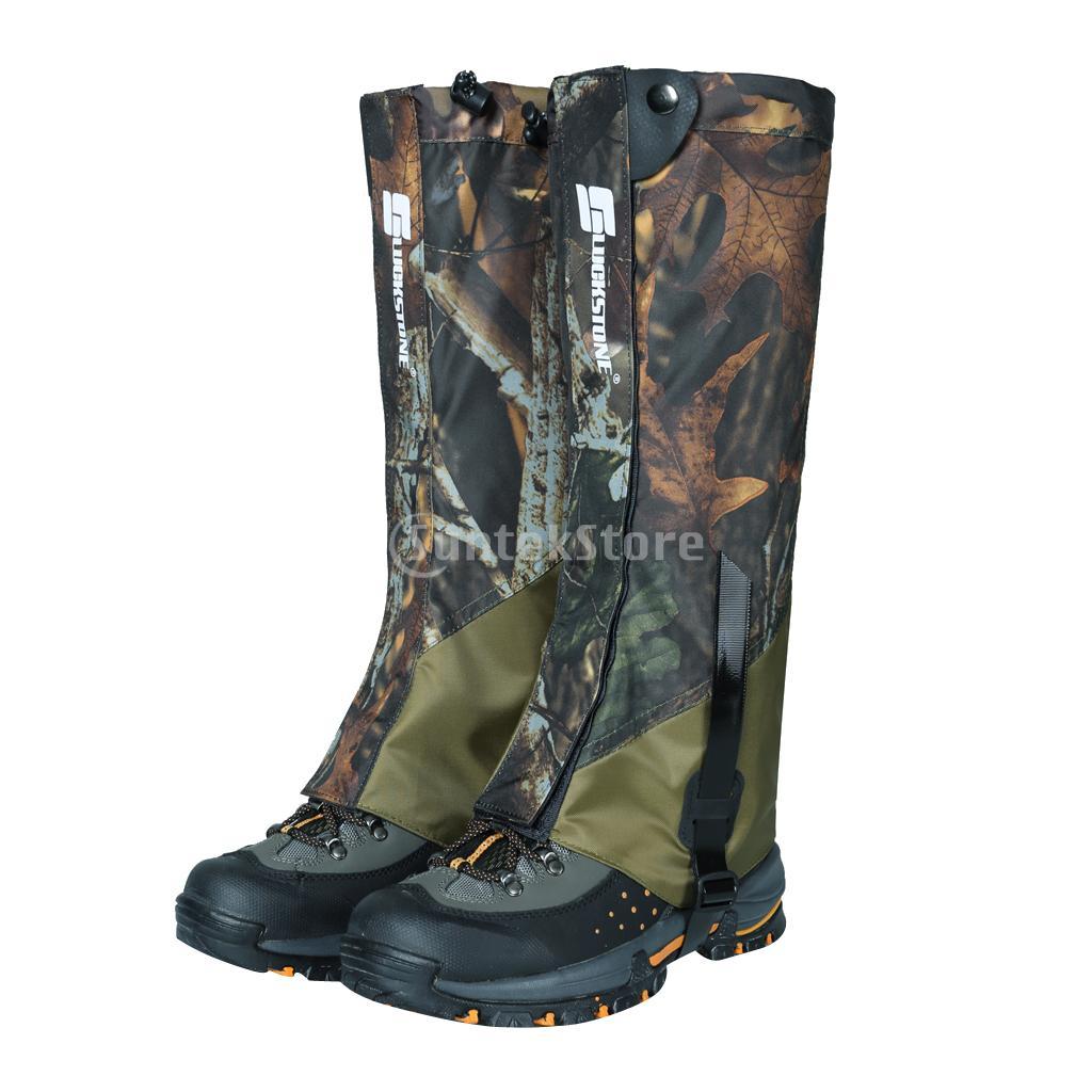 1 Paia Outdoor Trekking Passeggiate Arrampicata Caccia Neve Leggings Ghette Impermeabili Scarpa Ghette Boot Cover-Camouflage
