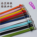 2016 wholesale women's fashion leisure pu waist belts girls special candy color belt and Ms belt