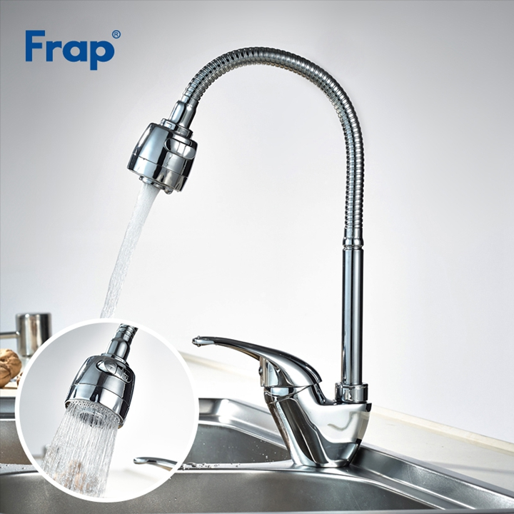 Frap Hot Sale Solid Brass Kitchen Mixer Cold and Hot Kitchen Tap Single Hole Water Kitchen Sink Faucet Torneira Cozinha F4303 jooe modern solid brass with chrome kitchen faucet mixer cold and hot water tap for sink torneira cozinha griferia cocina je029