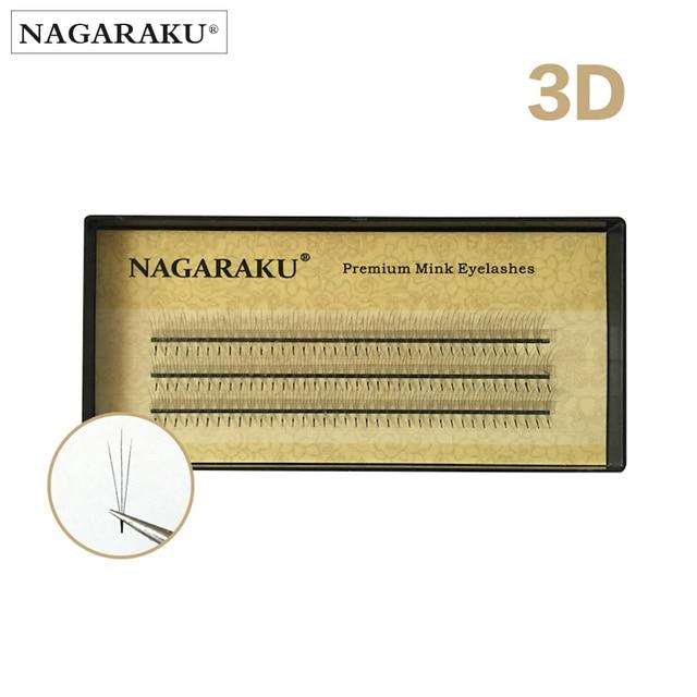 NAGARAKU 3D volume eyelash make up eyelash extensions hand-made black faux mink premium eyelash premade fan eyelash application