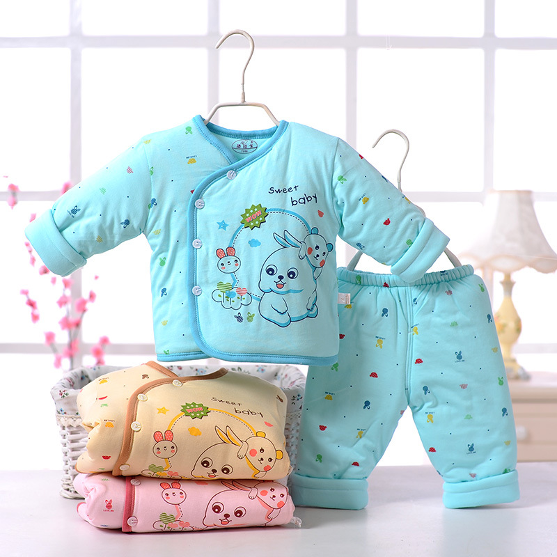 Retail baby boy girl clothes newborn autumn & winter cotton clothing baby born suit long sleeve warm jacket infant clothing set 2pcs set baby clothes set boy