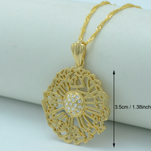 Allah Necklaces Mohammed Pendant Necklaces Muslim Islamic Religion Arab Jewelry Gold Color Middle Eastern #000819