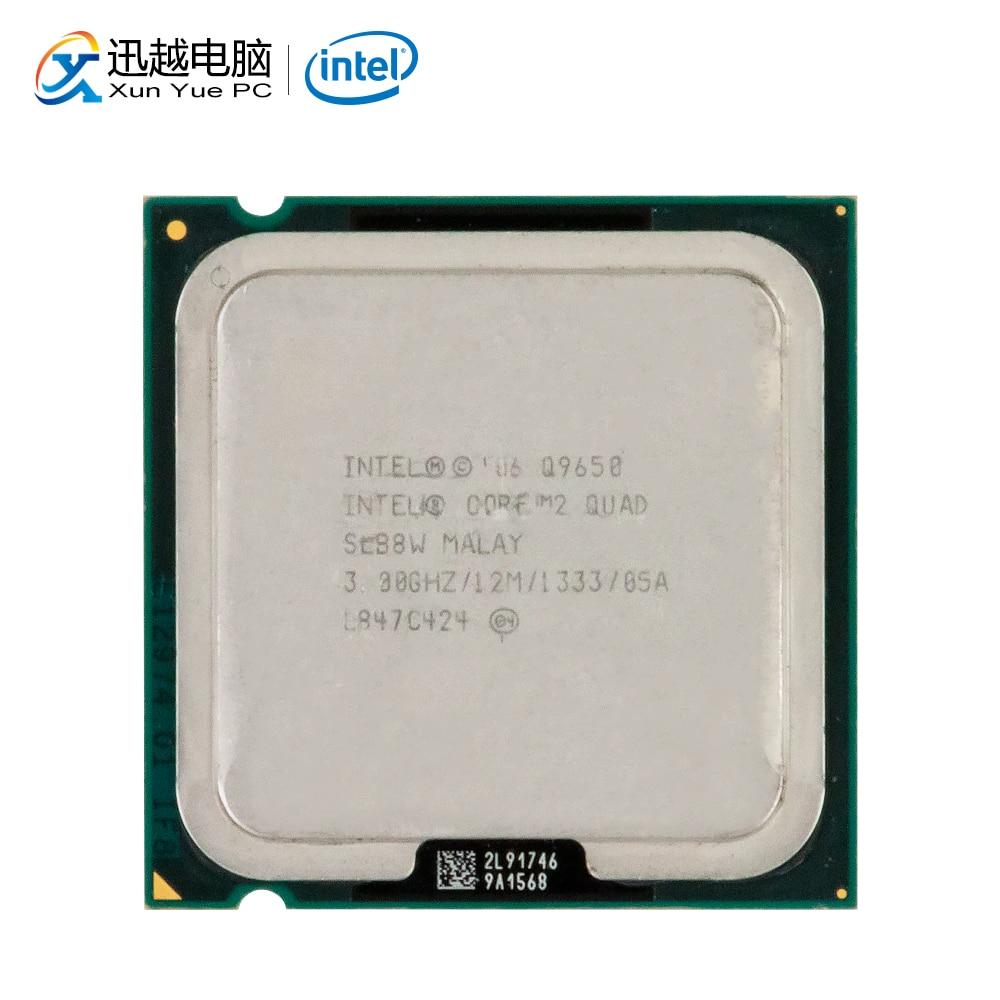Intel Core 2 Quad Q9650 processeur d'ordinateur de bureau Quad-Core 3.0 GHz 12 MB Cache FSB 1333 LGA 775 9650 Utilisé CPU
