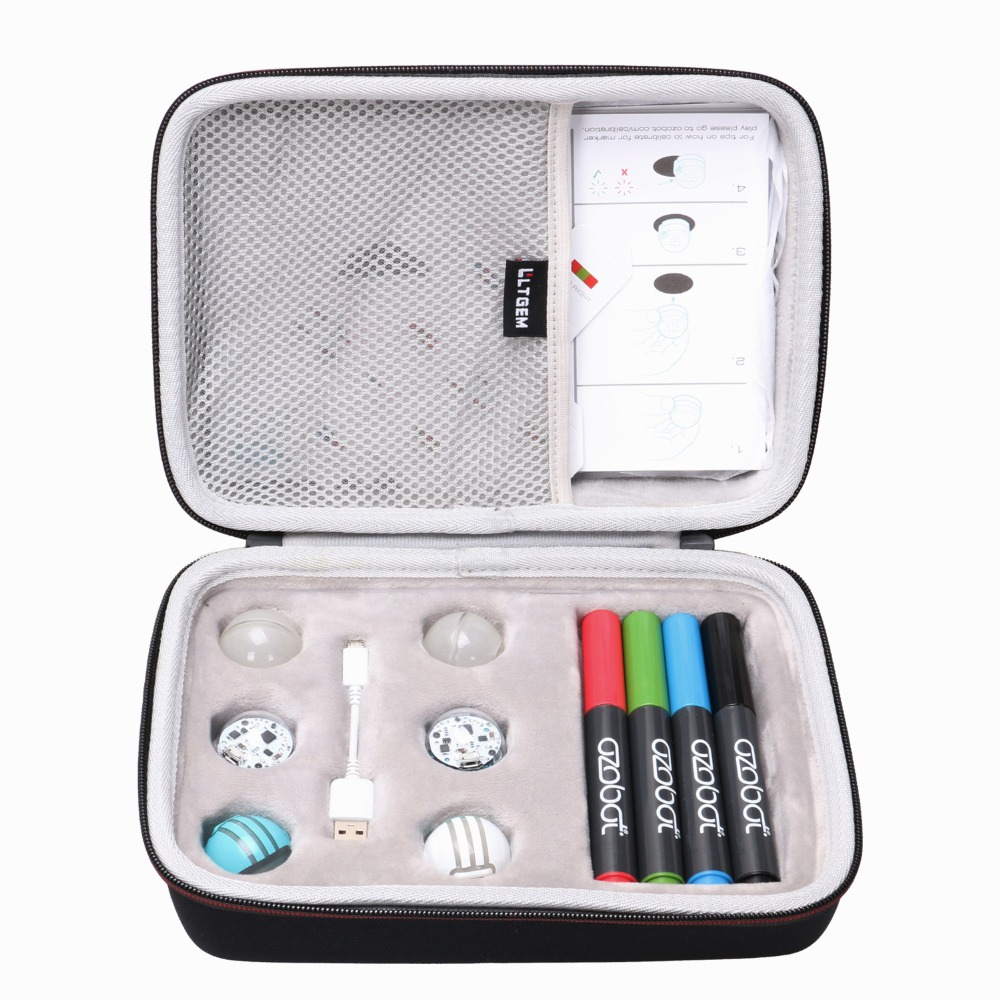 LTGEM EVA Hard Case For Ozobot Bit Coding Robot - Fits A Full Robotics Kit