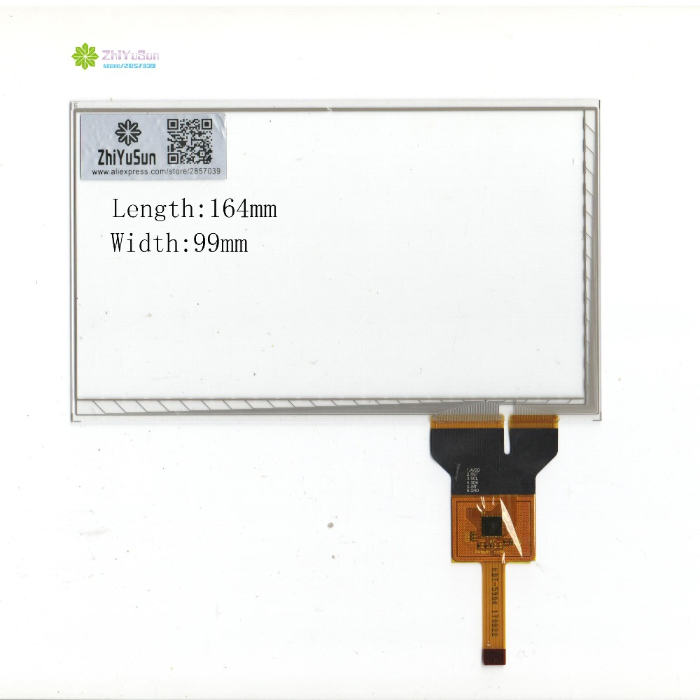 ZhiYuSun KDT-5904 164mm * 99mm 7 inch NOVO painel da tela de toque 164*99 sensor de TOQUE de vidro para DVD carro tela de toque Capacitivo