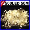 50M 500 LED 9 Colors Wedding New Year Xmas Navidad Fairy String Decoration Outdoor Garland LED