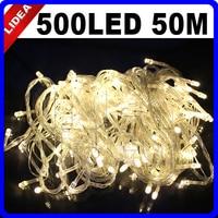 50M 500 LED 9 Colors Wedding Holiday New Year Xmas Navidad Fairy String Decoration Outdoor Garland LED Christmas Light CN C 35