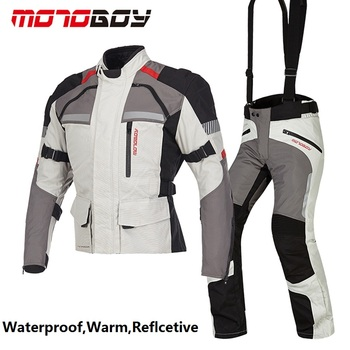 Free shipping 1set New Waterproof Motocross Racing Clothing Reflective Breathable Warm Clothes Suits Motorcycle Jacket&Pants