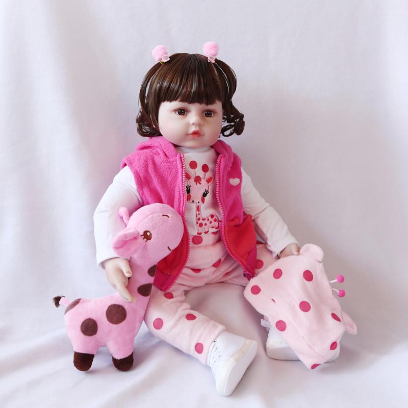 45cm Silicone Reborn bébé poupée enfants Playmate cadeau pour filles bébé vivant doux jouets pour Bouquets poupée Bebe Reborn jouets cadeau