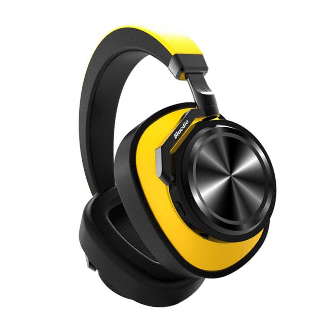 Casque Bluetooth Bluedio casque anti-bruit actif casque sans fil jaune sur l'oreille casque Bluetooth - 3