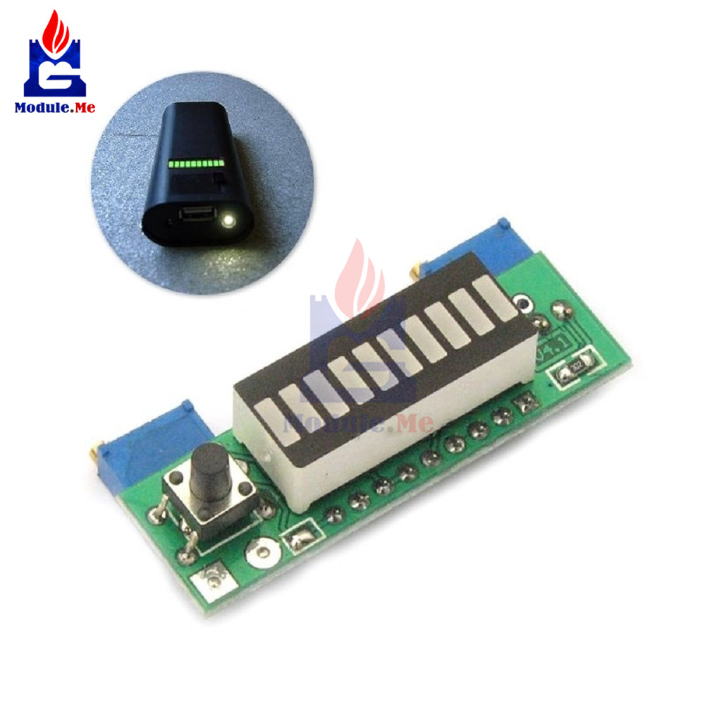 Accessories & Parts Electronic Diy Kits Lm3914 Display Board 3.7v Lithium Battery Capacity Indicator Module Led Power Level Tester 12v Li-lion Lipo