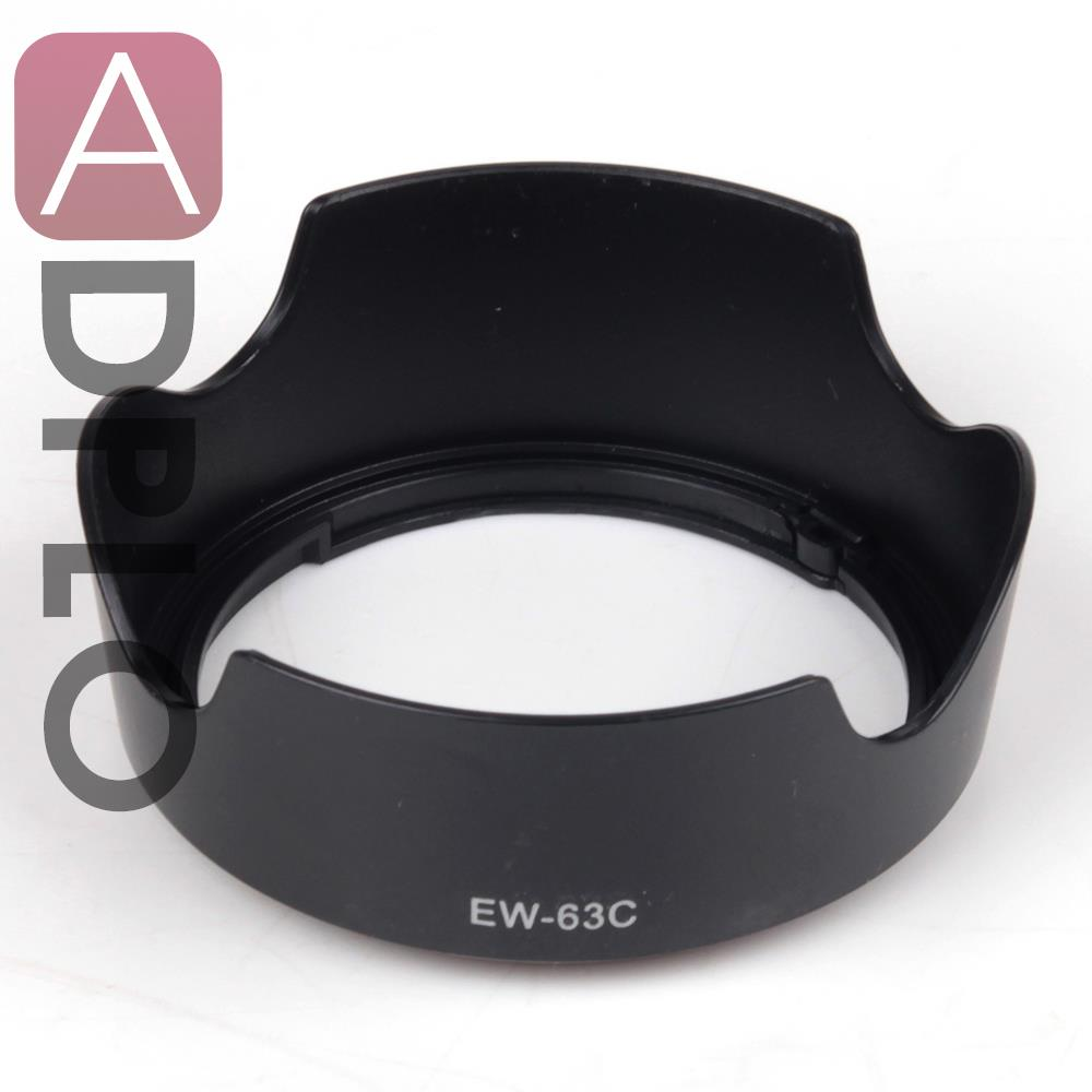 58mm EW-63C Bayonet Mount Lens Hood Work For /Canon/ 700D Rebel T5i 100D EF-S EF-S 18-55mm f/3.5-5.6 IS STM Lens DSLR Camera