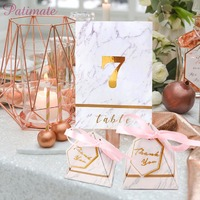 PATIMATE Triangular Pyramid Hot stamping Gift Box Wedding Favors And Gifts Candy Box Wedding Gifts For Guests Wedding Decoration