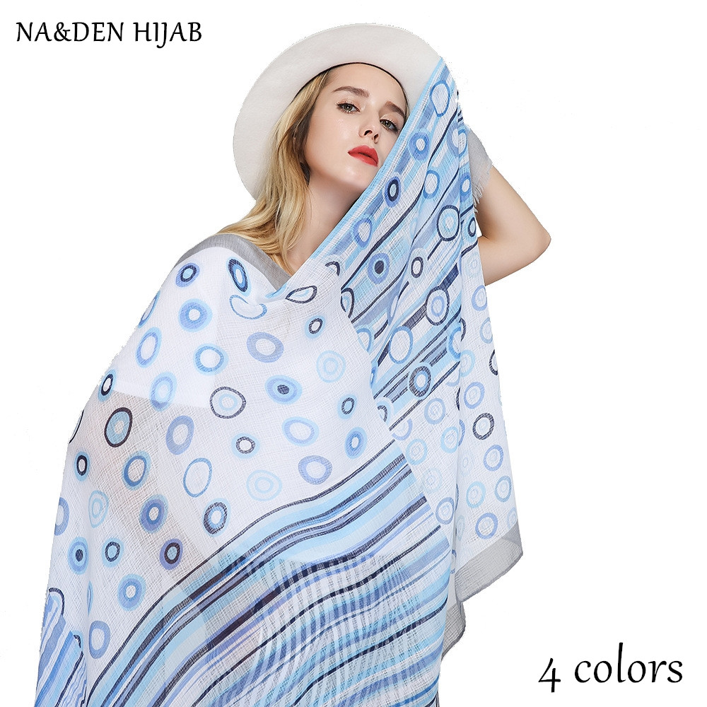 NEW polka dot scarf striped print shawl geometric fashion hijab luxury women scarves shawls brand soft muffler islamic hijabs