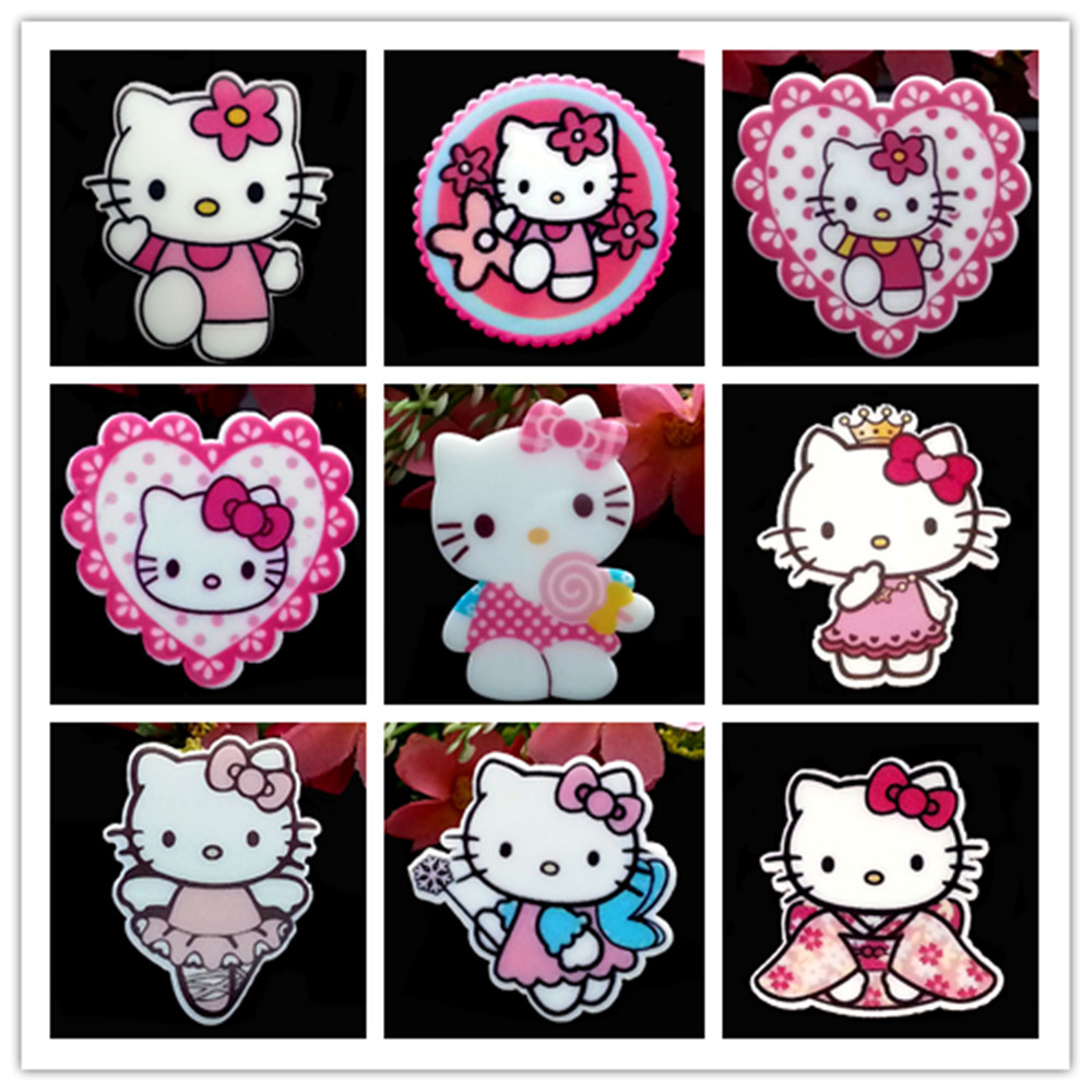 b12147a6d 90pcs/Lot Cute Hello Kitty Bow Planar Resin Cabochons Flatback Ribbon Bow  Cabochons Hair Bow Center Frame Card Making Craft-in Figurines & Miniatures  from ...