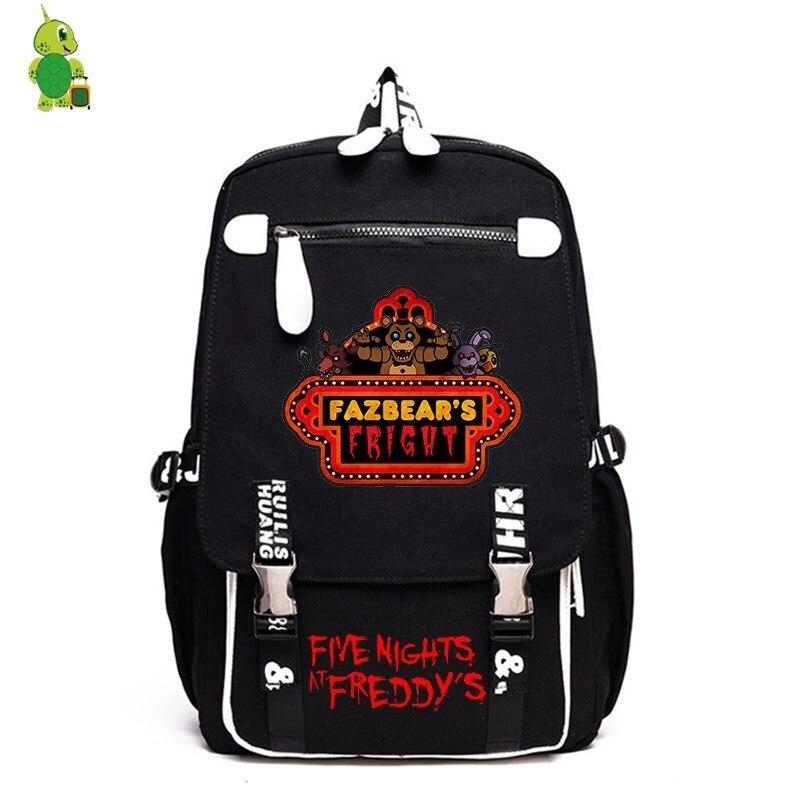 Cinq nuits à Freddy's toile sac à dos sacs d'école drôles pour les adolescentes garçons sac à dos pour ordinateur portable femmes hommes voyage sac à dos