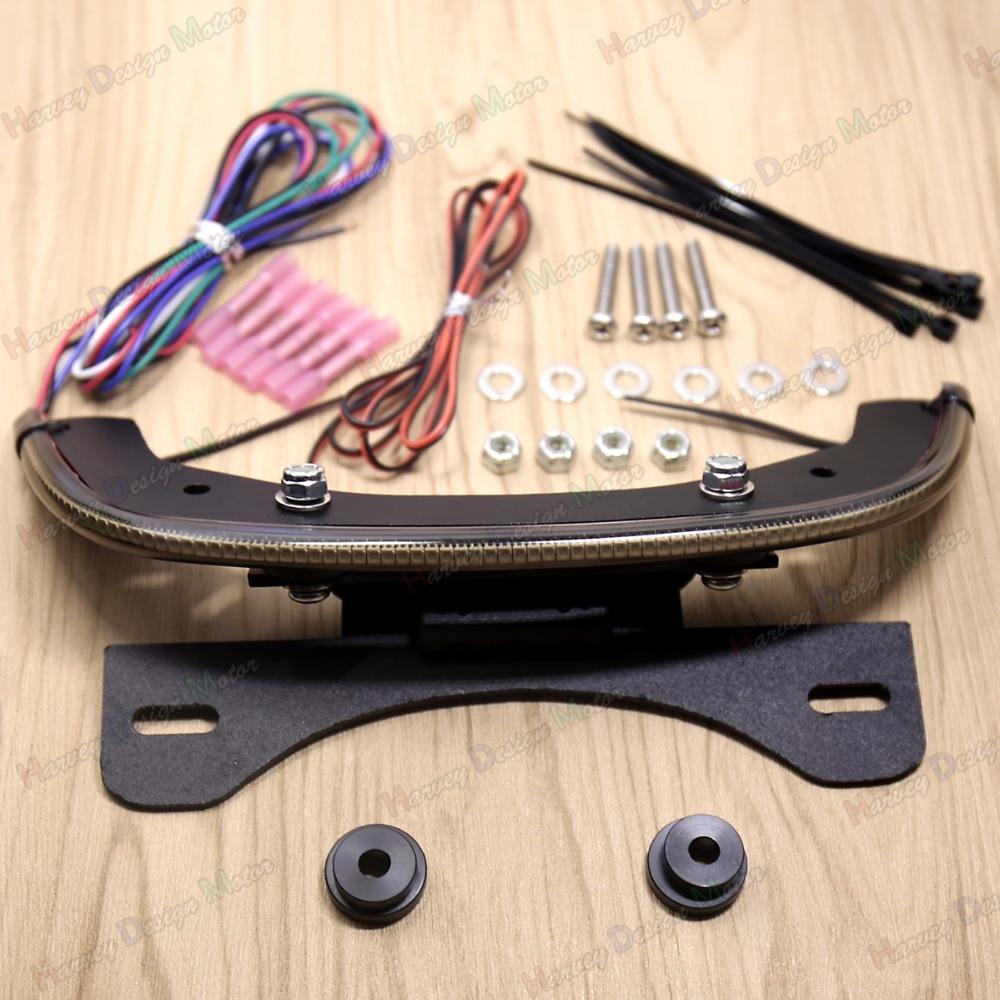 LED Fender Eliminator Intégré Light Queue Fumé Bar Pour Harley V-rod V Tige Night Rod 2012-2017