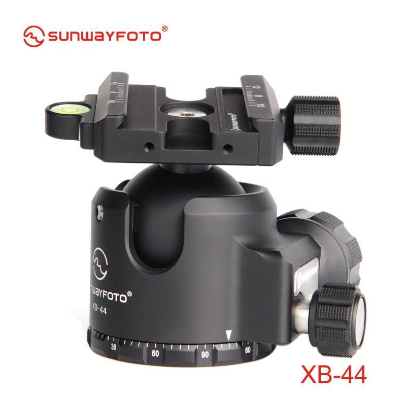 bilder für SUNWAYFOTO XB-44 Low-Profile-stativkopf für DSLR Kamera Tripode Kugelkopf Professionelle Einbeinstativ Panorama Stativ-kugelkopf