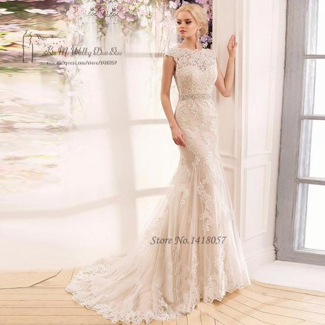 Us 138 4 20 Off Vintage Boho Hochzeitskleid 2017 Abiti Da Sposa Spitze Brautkleider Meerjungfrau Braut Kleider Backless Louisvuigon Kristall Gurtel