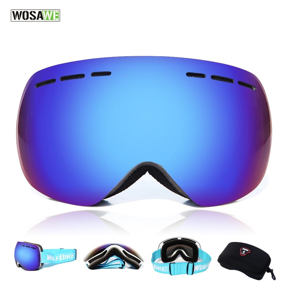 7dcabccc1 UV400 WOSAWE Óculos De Esqui Duplo Anti fog Óculos de Sol Das Mulheres Dos  Homens de Esqui Neve Snowboard Óculos De Proteção UV com o original caixa  em ...
