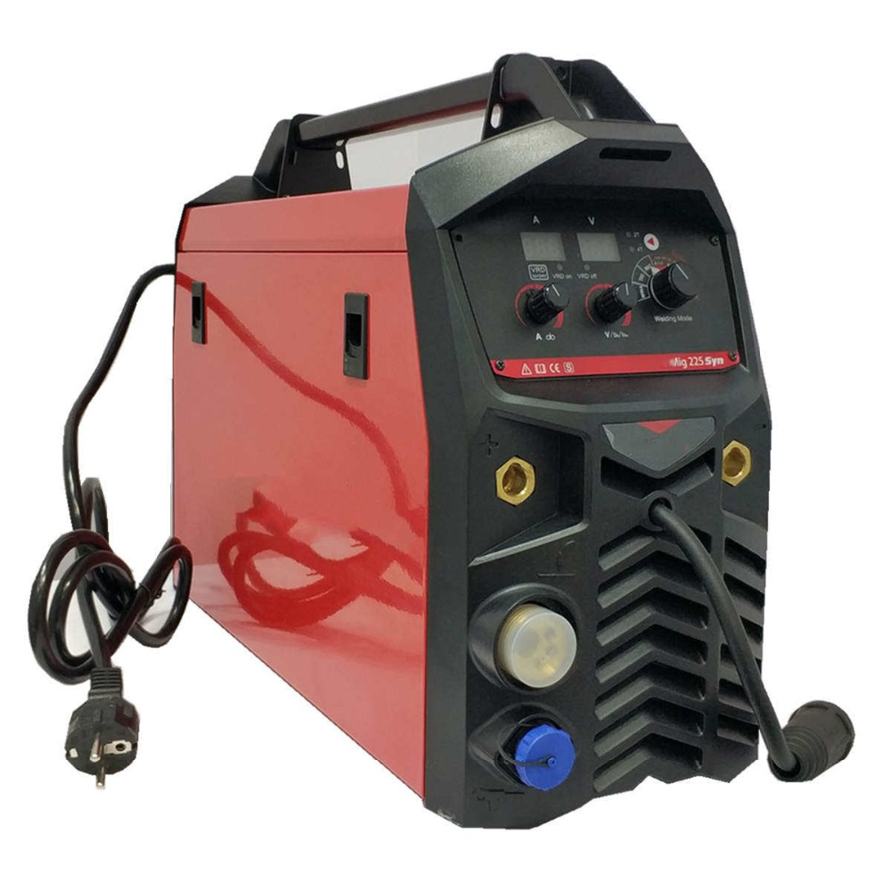 225A Synergic MIG MAG Welding Machine VRD Multi Process Welding Equipment IGBT Digital Synergy MIG MAG MMA TIG Combined Welder