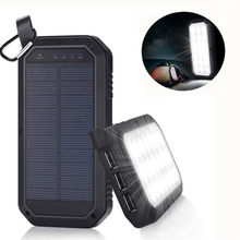 Smuxi 21 LED 8000mAh Portable Solar Powered Camping Light 3 USB Mobile Power Bank for iPhone/ipad/Android(China)