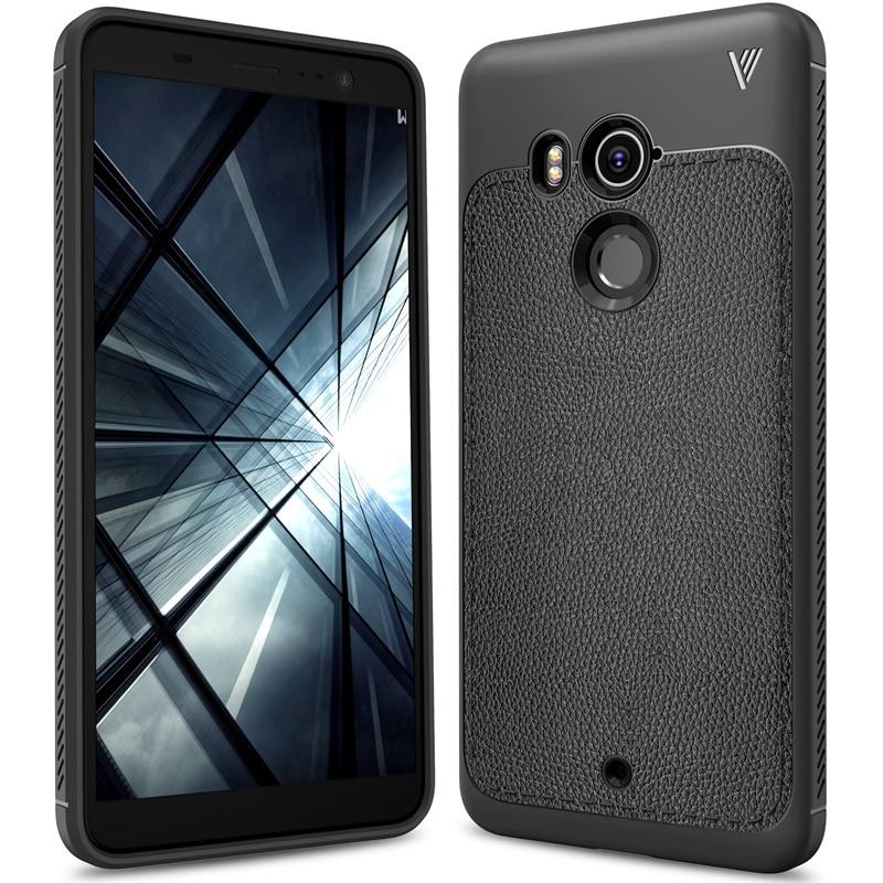 Lnobern New TPU Soft Case For HTC U11 Plus,Litchi Texture Non-slip Business Cover For HTC U11 Plus Case