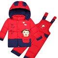 Meses de Invierno Ruso Bebé Niñas Sistemas de la Ropa Infantil Niños Traje Para La Nieve Recién Nacido Edredón Capa Del Muchacho Caliente del Invierno Del Mameluco Trajes