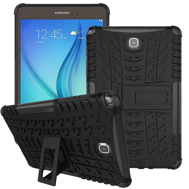 NEW Hybrid Stand Hard PC+TPU Rubber Armor Case Cover For Samsung Galaxy Tab A 8.0 SM-T350 T355 strong sturdy Protective Case