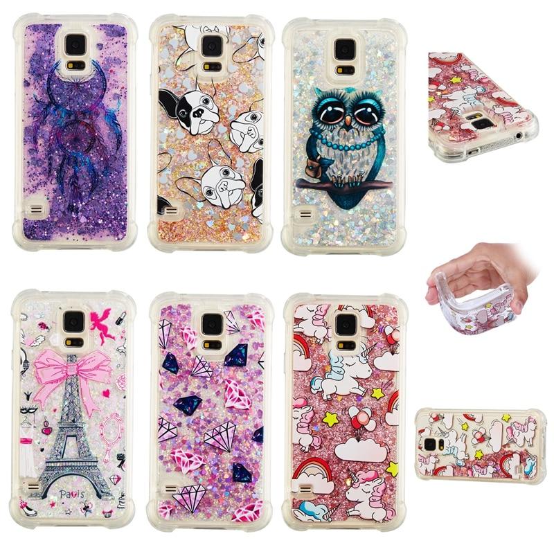 Brave Glitter Stars Liquid Quicksand Case For Samsung Galaxy S10e S5 S6 S7 Edge S8 S9 S10 Plus Bling Love Heart Soft Tpu Cover Coque Cellphones & Telecommunications
