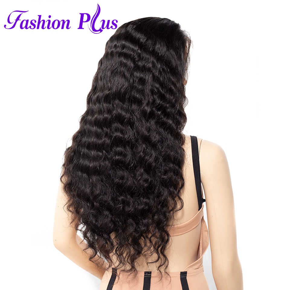 Fashion Plus Loose Wave Wig 360 Lace Front Human Hair Wigs Brazilian Remy Hair Lace Wigs Pre Plucked Bleached Knots