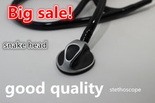 Stethoscope Medical luxury snake head heart lung stethoscope send earplugs diaphragm heart lung specialist stethoscope