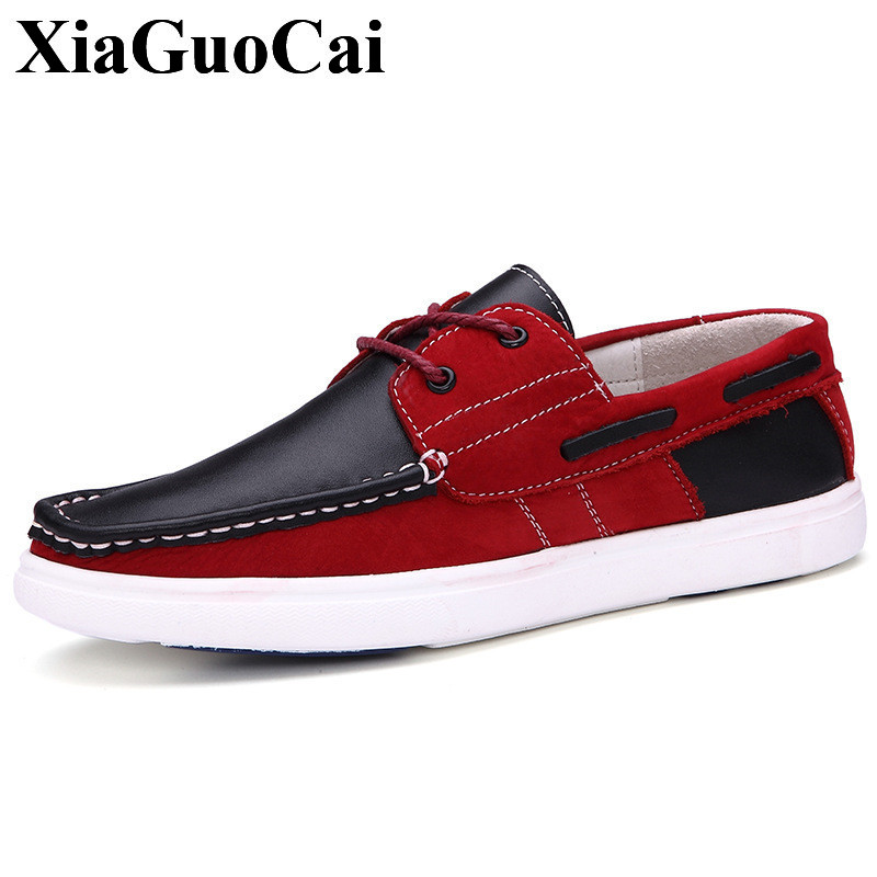 New Arrival Classic Boat Shoes Men Casual Shoes Genuine Leather Loafers Fashion Mixed Color Comfortable Flats Driving Shoe H659 genuine leather men casual shoes plus size comfortable flats shoes fashion walking men shoes