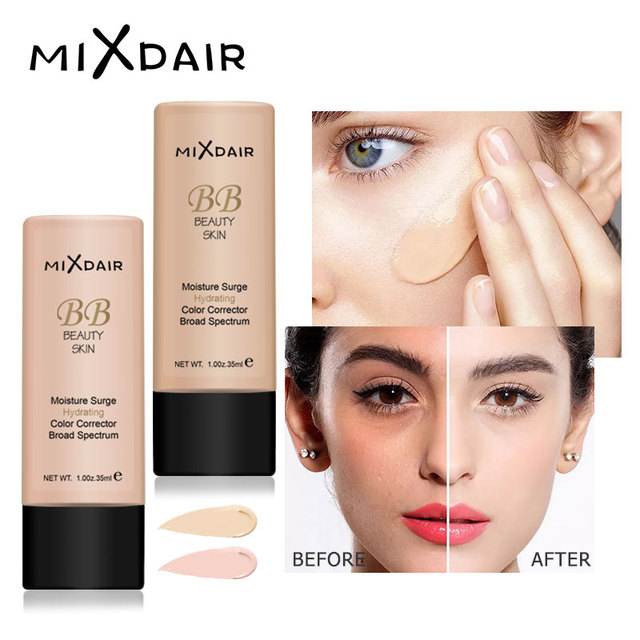 MIXDAIR Foundation Face Liquid Moisturizing Make Up Base BB Cream Brightening Concealer Natural Face Primer Full Coverage 1