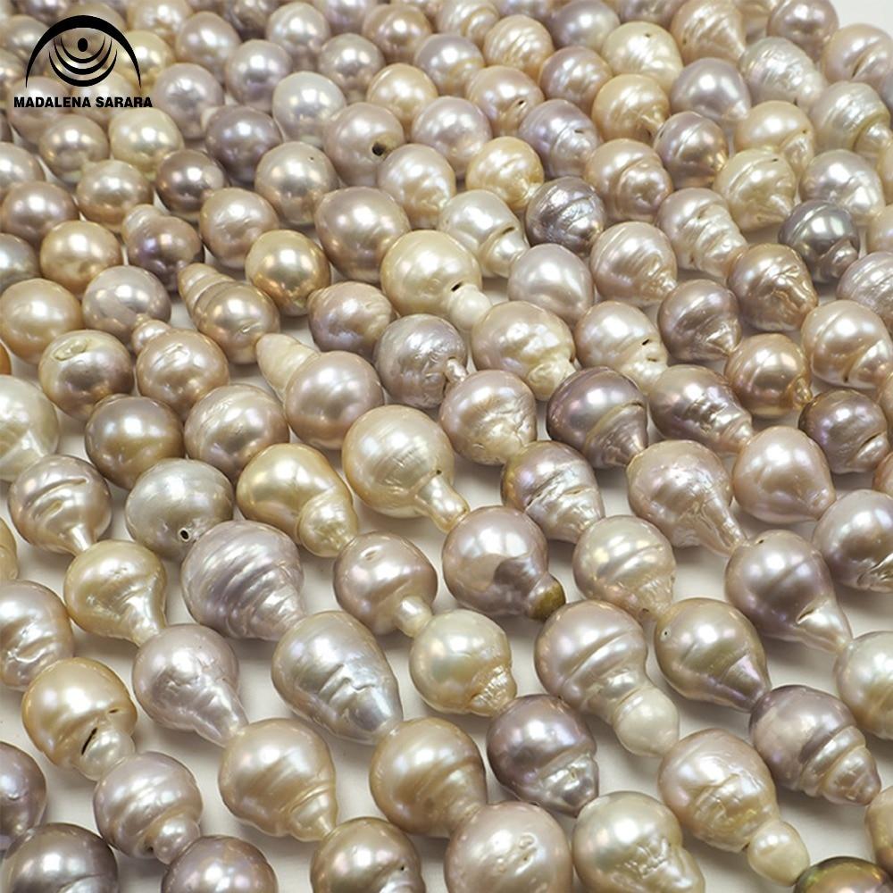 Perle d'eau de mer MADALENA SARARA AAA en forme de poire naturelle exquise perle en vrac brillante