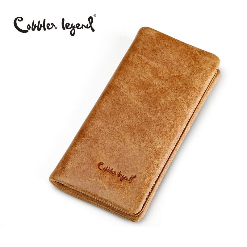 Cobbler Legend Brand Designer Mens Wallet Male Long Wallet Card Holder Purse Coin Pocket For Man Coin Purse Genuine Leather