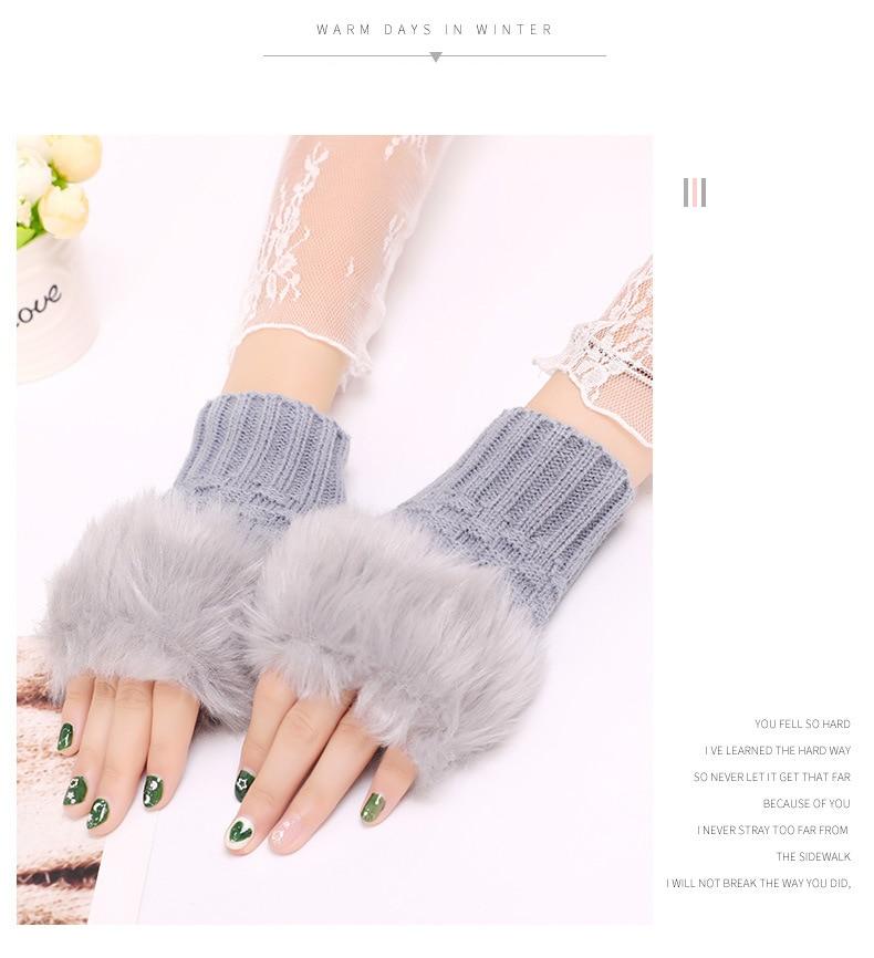 Winter Knitted Gloves New Wrist Trim Gloves 14