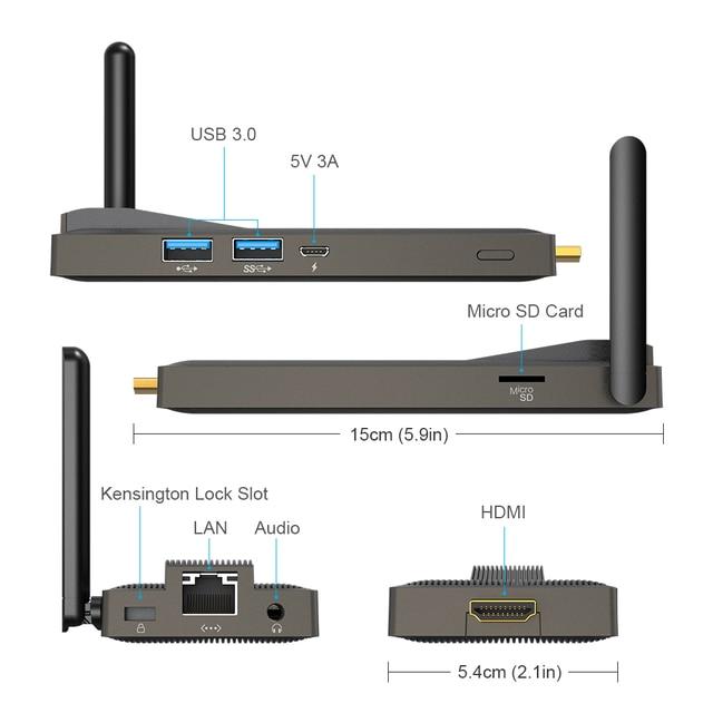 Intel Celeron J4125 Quad Core 8GB 128GB J4105  J3455 4K Fanless Mini PC Windows 10 Pro MeLE PC Stick Mini Computer HDMI WiFi LAN 3