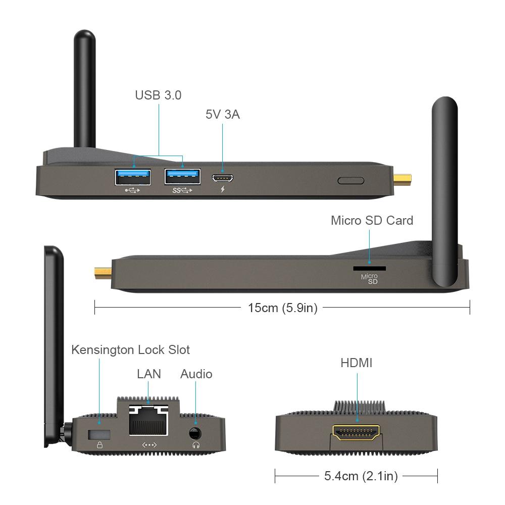 Top SaleMele PC Stick Computer LAN Wifi Intel Celeron Fanless J4105 HDMI GLK Windows 10 Gigabit