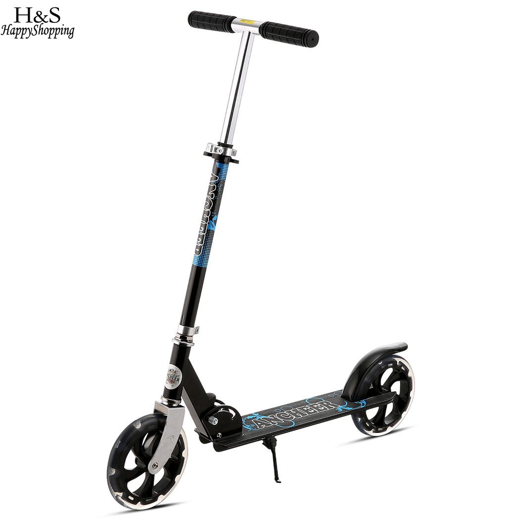 Ancheer New Adult Kick Scooter Teenager Lightweight Foldable Adult Scooter Adjustable Height Patinete Adulto Trottinette Adulte two rounds electric scooter pure power and power mode trottinette electrique adulte collapsible 4 inches pneumatic tire