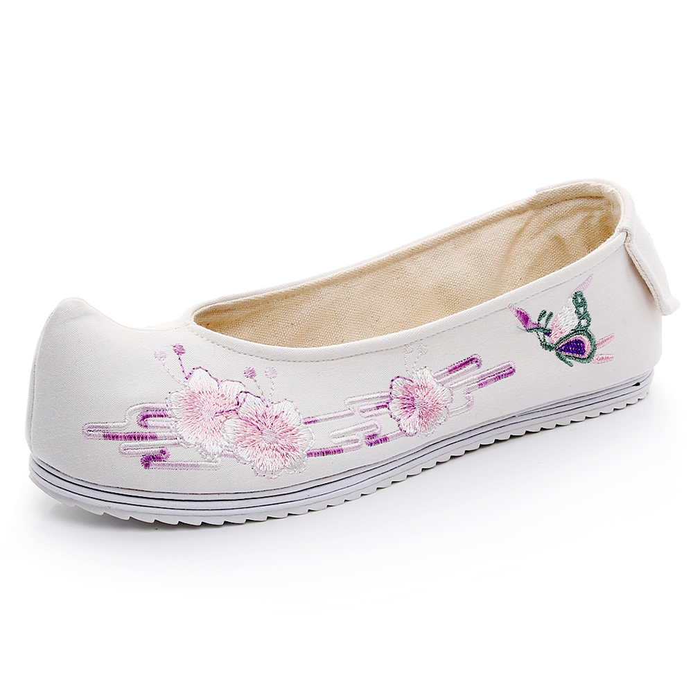 Luxury Embroidered Women Shoes Chines Ancient Dynasty Style Hanfu Shoes Inside Heighten Pumps Warped head Rubber Melaleuca Zi yu in Women 39 s Pumps from Shoes