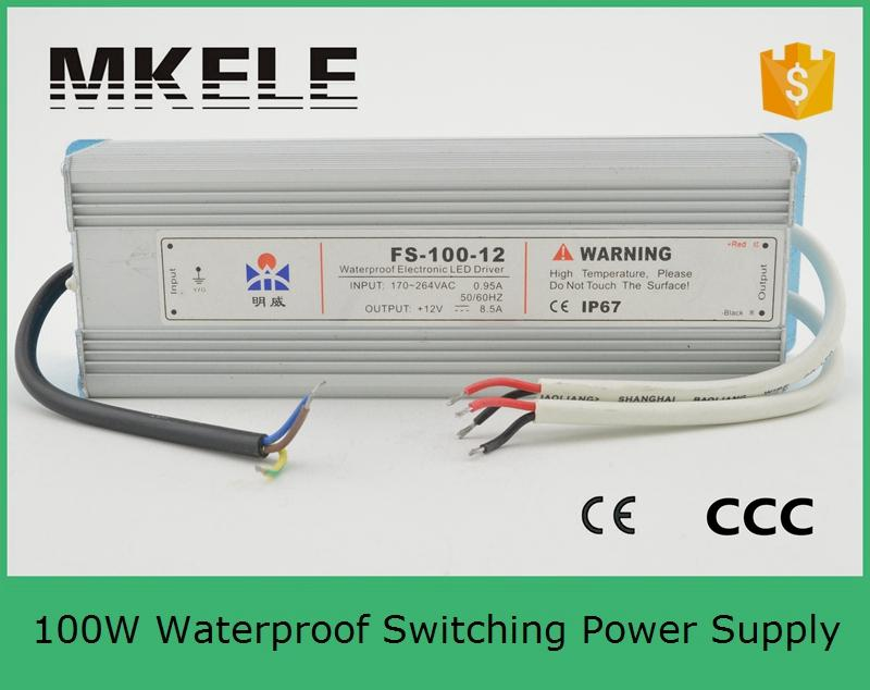 ФОТО 24v 100w FS-100-24 4.5A 2016 New design Waterproof Switching power supply for CNC Engraving Machine Led block power