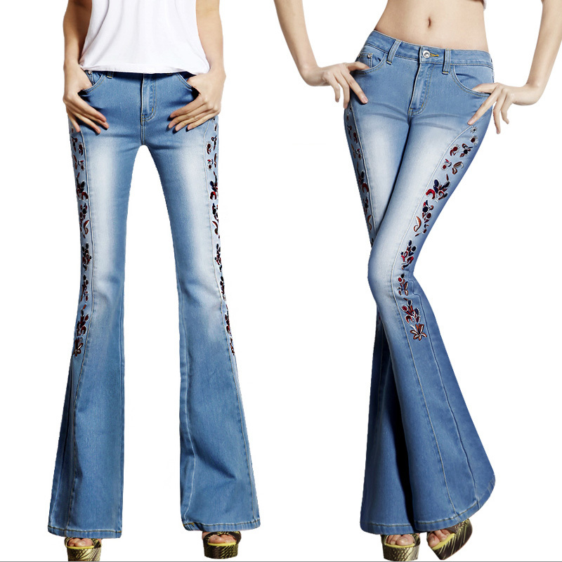 Popular Flare Leg Jeans-Buy Cheap Flare Leg Jeans lots from China ...
