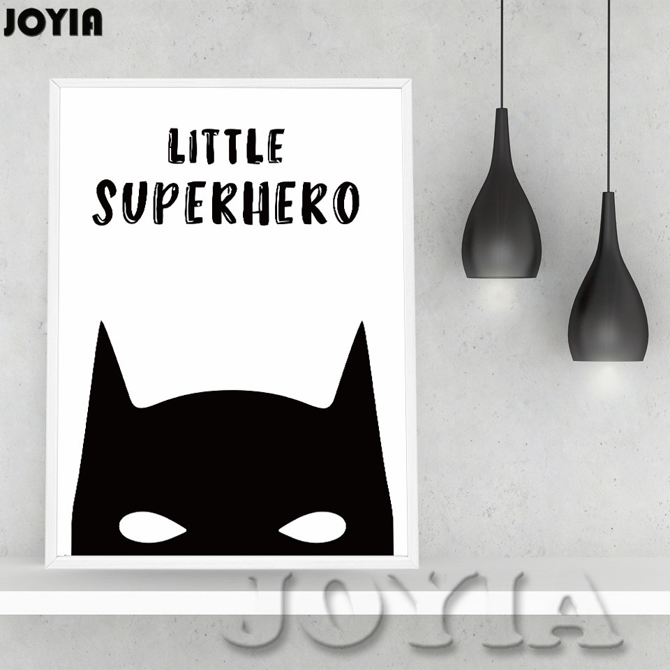 Cartoon superhero wall decor canvas poster batman life quotes cartoon superhero wall decor canvas poster batman life quotes home decoration wall pictures kid room decors print art no frame in painting calligraphy amipublicfo Image collections