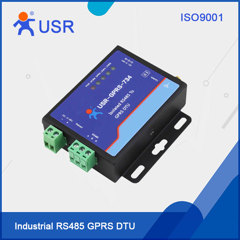 USR-GPRS232-734 RS485 GPRS DTU ESD EFT Protection fast free ship gprs dtu serial port turn gsm232 485 485 interface sms passthrough base station positioning usr gprs 730