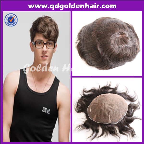 All Lace Toupee Mens Injection Hairpieces For Black Men-in Men s ... e925ec30c