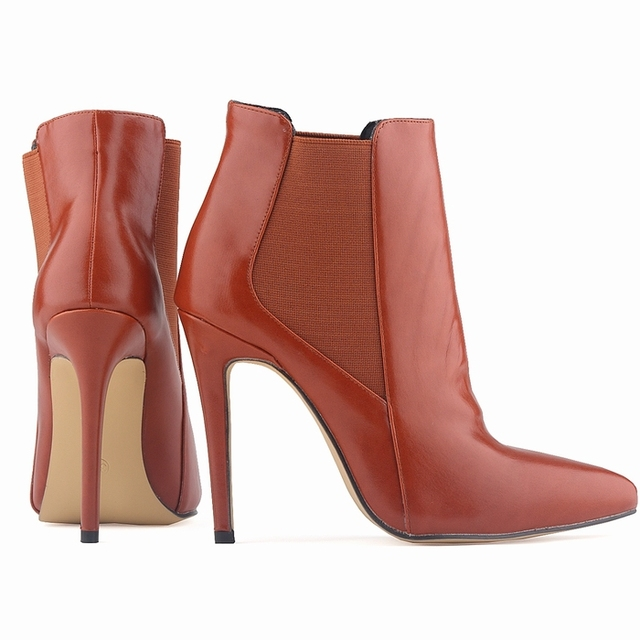 01f11910261 FREE SHIPPING WOMENS FAUX LEATHER HIGH STILETTO THIN HEEL PLATFORM ANKLE  BOOTS SHOES US5-10 LADIES 769-2YP